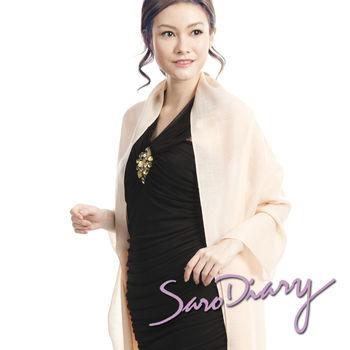 【莎蘿日記】100%純羊毛 超柔軟溫暖圍巾 (膚色w-03sk)