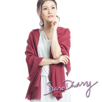 【莎蘿日記】100%純羊毛 超柔軟溫暖圍巾 (酒紅色w-9rw)