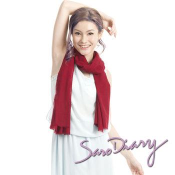 【莎蘿日記】 100%純羊毛 超柔軟溫暖圍巾 (暗紅色w-13ZR)