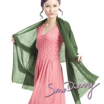 【莎蘿日記】100%純羊毛 超柔軟溫暖圍巾 (墨綠W-07GR)