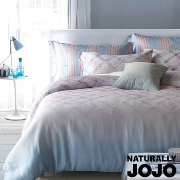 【NATURALLY JOJO】愛森堡-40天絲兩用被床包四件組-特大