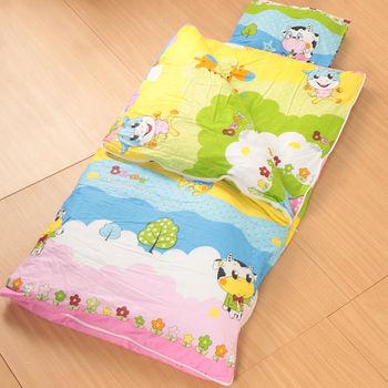 床之戀嚴選 純棉被套可拆式被胎四季兒童睡袋毯附枕心