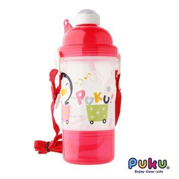 PUKU藍色企鵝 - 雙層水壺350ml(粉色)