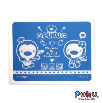 PUKU藍色企鵝 - 矽膠餐墊(藍色)