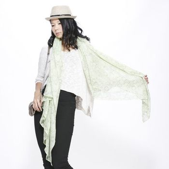 蘭陵100%純棉日式和風圍巾組