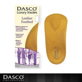 【鞋之潔】英國伯爵DASCO 61081皮革足弓矯正鞋墊 支撐腳跟保護足弓 柔軟透氣