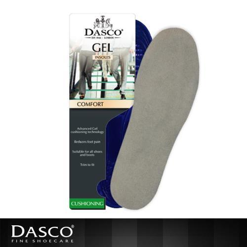 【鞋之潔】英國伯爵DASCO 6114矽膠絨面舒適鞋墊 可剪裁 最高厚度0.8公分