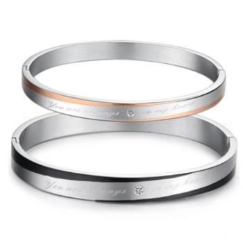 【I-Shine】摯愛LOVE情侶鈦鋼手環(對鍊組)