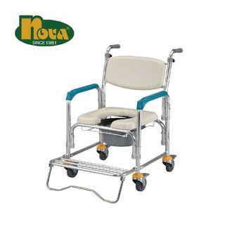 【光星】★ 不鏽鋼附輪馬桶椅 10.3kg 銀白 ★
