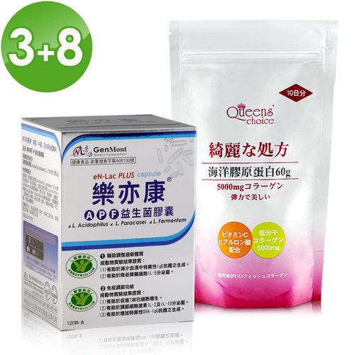 【景岳生技】雙健字號 樂亦康輔助調整過敏360顆(加贈海洋膠原蛋白粉60g*8包)