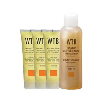 昂賽芙 美髮組_小麥洗髮1000ml+果酸潤護髮膜250mlx3