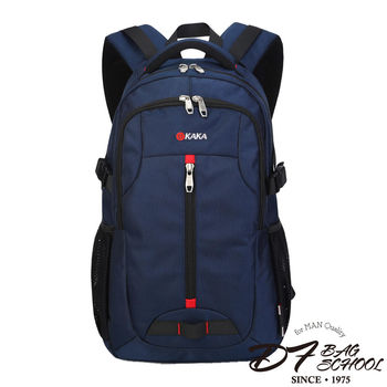DF BAGSCHOOL - 高磅數硬挺尼龍款防水後背包-共2色