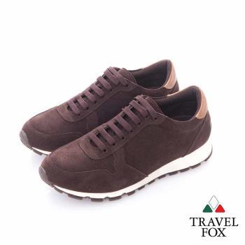 Travel Fox (男) - 温度 反毛皮都會慢跑運動鞋- 深咖