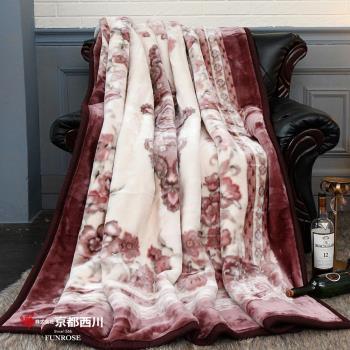 【京都西川】復古珍藏印花毛毯-花樣年華 新合纖印花毯/厚毛毯(180X210cm)