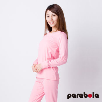 3M Parabela發熱衣 女圓領 粉紅