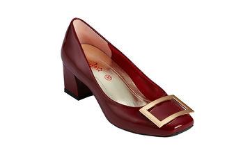 2MUCH名媛方框鏡面羊皮粗跟鞋