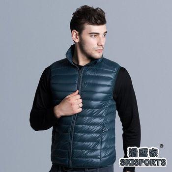 【滑雪家SKISPORTS】嚴選極輕保暖羽絨背心FM130墨綠(M-XL)   輕盈;保暖;附專用收納袋