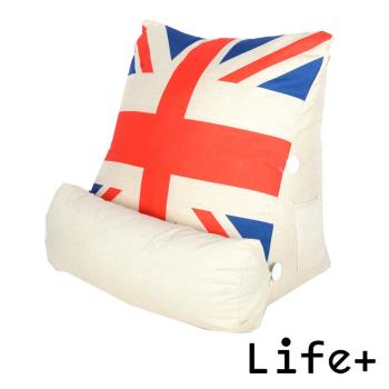 【Life Plus】 英倫美風立體舒壓靠枕/抱枕/腰靠枕 (英國國旗)