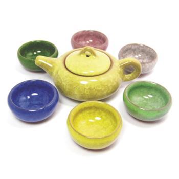 【芮森】冰裂釉茶具(1壺6杯)-禮盒組