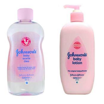 【義大利 Johnsons 嬌生】嬰兒潤膚油-原始香味(16.9oz/500ml)*2+嬰兒乳液(16.9oz/500ml)*2