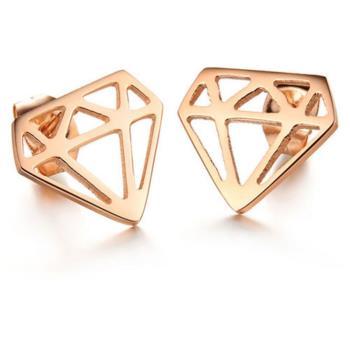【I-Shine】潮流-西德鋼鑽石圖騰鈦鋼耳環