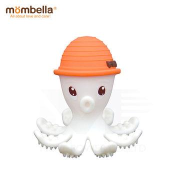 英國《mombella 》樂咬咬章魚固齒器(橘色)
