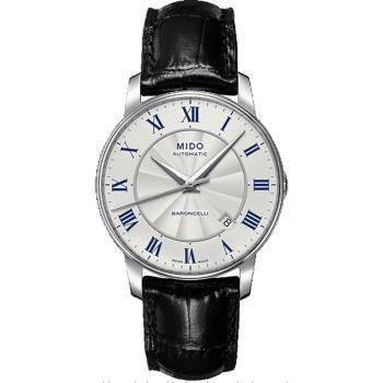 MIDO Baroncelli II 羅馬假期機械腕錶-銀/38mm M86004214