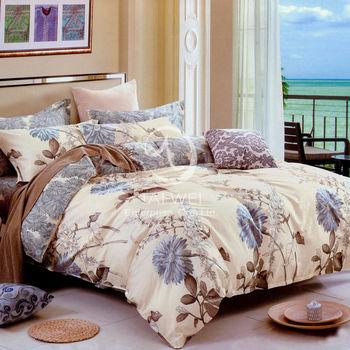 【卡莎蘭】似水流年 雙人純棉四件式二用被床包組