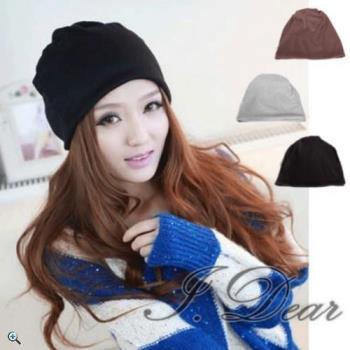 【I.Dear】韓系保暖帽 四季時尚穿搭 多功能圍脖帽(3色)