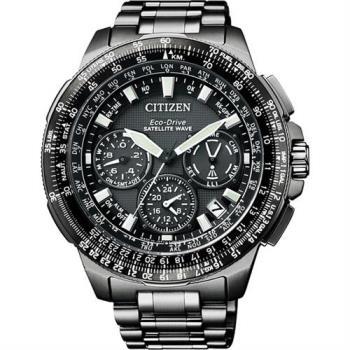 CITIZEN 光動能GPS衛星對時鈦金屬限量腕錶-黑x47mm CC9025-51E