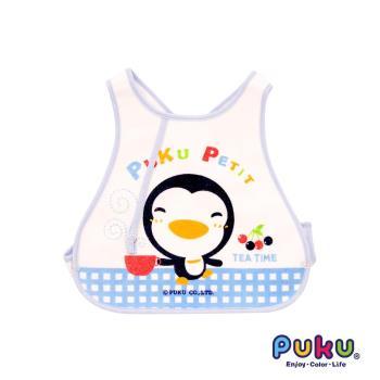 PUKU藍色企鵝 - 背心圍兜(水色)