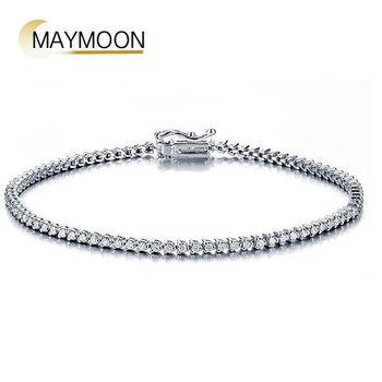 MAYMOON  1克拉閨蜜紀念18K白金鑽石手鍊