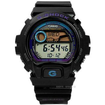 G-SHOCK CASIO / GLX-6900-1 / 卡西歐衝浪必備漸層色彩抗低溫運動橡膠手錶 黑色 50mm