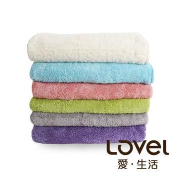 LOVEL 7倍強效吸水抗菌超細纖維浴巾6入組(共9色)