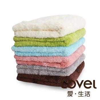 LOVEL 7倍強效吸水抗菌超細纖維小浴巾6入組(共9色)
