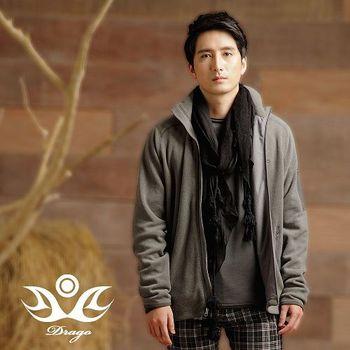 【Drago】型男時尚中空保暖纖維刷毛立領外套-(S-XXL)