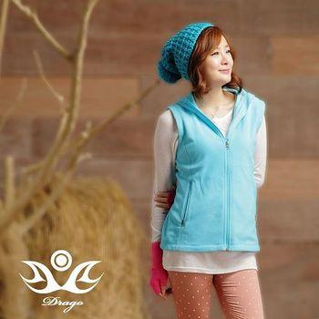 【Drago】刷毛中空保暖纖維立領背心-女 (10色可選)  時尚搭配輕盈好穿