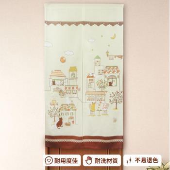 【巴芙洛】日式門簾-月下貓咪-85x150cm