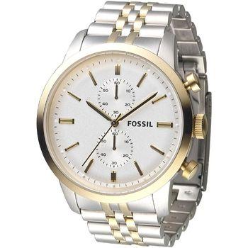 FOSSIL 乘龍天下時尚碼錶計時男錶-中金(FS4785)