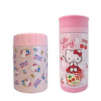 【Hello Kitty】凱蒂貓400ml真空保溫罐 +250ml真空隨手杯暖心組合(KV-8806+KF-5603)