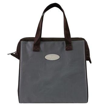 卡蘿保溫保冷餐袋(L)-科技灰