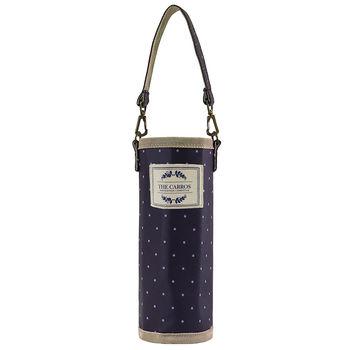 卡蘿隨行袋(S)-藍色水玉 (水壺袋/飲料袋/保溫保冷袋)