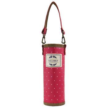 卡蘿隨行袋(S)-紅色水玉 (水壺袋/飲料袋/保溫保冷袋)