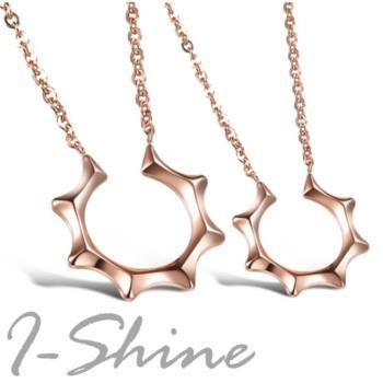 【I-Shine】韓劇-主君的太陽-西德鋼-鈦鋼項鍊(玫瑰金 對鍊組)