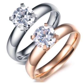【I-Shine】浪漫誓約-西德鋼 四爪八心八箭晶鑽戒指(2色選擇)