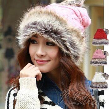 【I.Dear】韓系秋冬保暖帽-皮草帽圍脖兩用 加厚蒙古公主帽(3色)