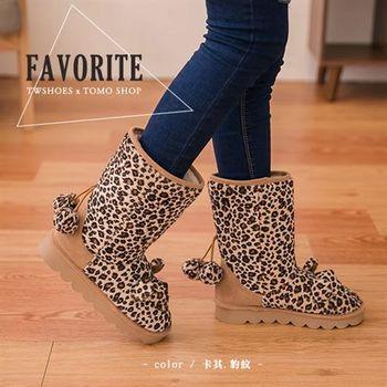 【TOMO】內刷毛小熊造型長雪靴【K135A2975】