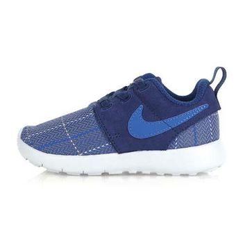 【NIKE】ROSHE ONE SE -TDV 男女嬰童運動鞋- 童鞋 藍灰