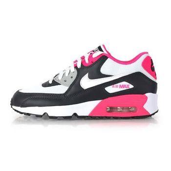【NIKE】AIR MAX 90 MESH -GS 女運動休閒鞋- 慢跑 粉紅灰
