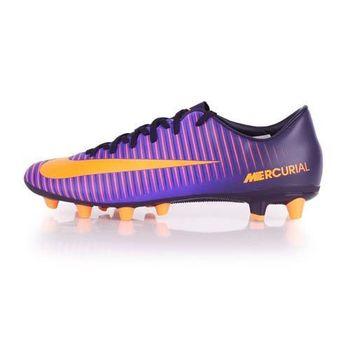 【NIKE】MERCURIAL VICTORY VI AG-PRO 男室外足球鞋 紫橘